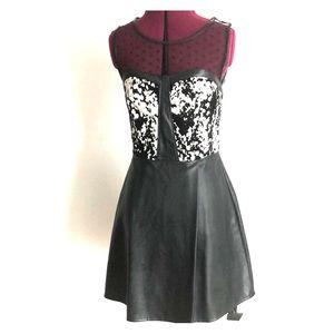 Cow Print Faux Leather Dress